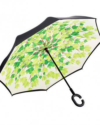 Зонт обратного сложения Up-Brella (Листья), фото 2