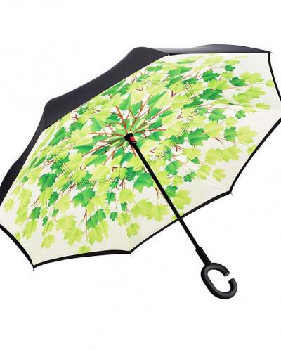 Зонт обратного сложения Up-Brella (Листья)