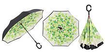 Зонт обратного сложения Up-Brella (Листья), фото 3