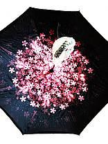 Зонт обратного сложения Up-Brella (Розовые Цветочки), фото 2