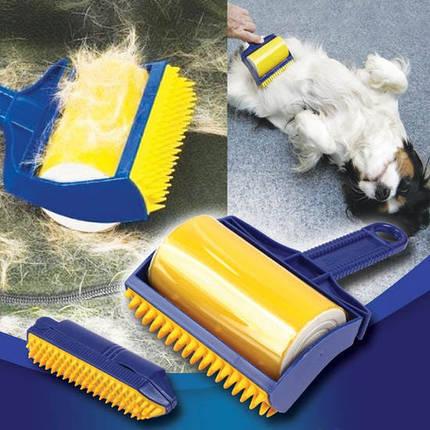 Щетка валик для чистки одежды ковра Sticky Buddy, фото 2