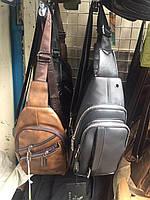 Сумка бананка мужская, поясная сумка коричневая и черная