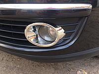 VW Jetta Накладки на противотуманки (АБС, хром)