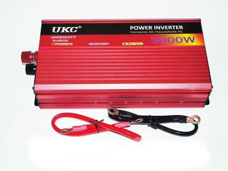 Инвертор напряжения автомобильный AC/DC AR 3000W 24V