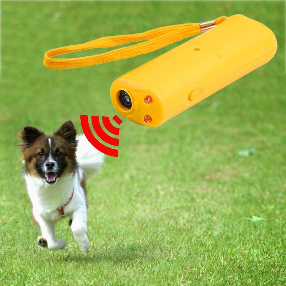 Super Ultrasonic AD100 Ультразвуковой отпугиватель собак фонарик