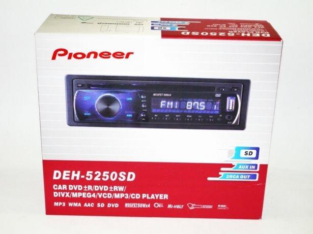 1DIN DVD-5250  Автомобильная магнитола RGB панель + пульт управления