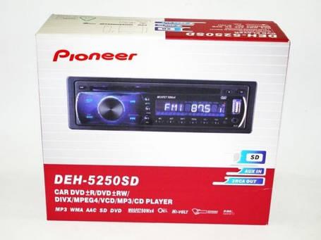 1DIN DVD-5250  Автомобильная магнитола RGB панель + пульт управления, фото 2