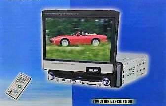Магнитола автомобильная 1DIN DA-7001 с пультом и выдвижным экраном, фото 2
