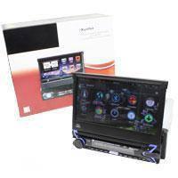 Магнитола автомобильная с пультом и выездным экраном 1DIN DVD-9505 Android GPS, фото 2