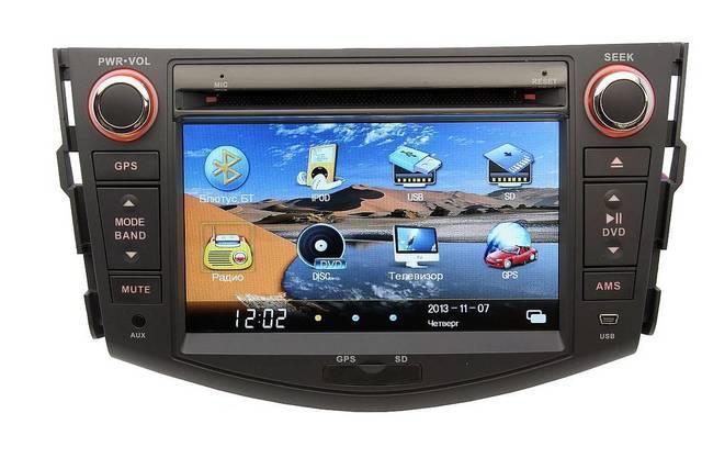 Автомобильная магнитола для Toyota с GPS RAV4 2006-2012