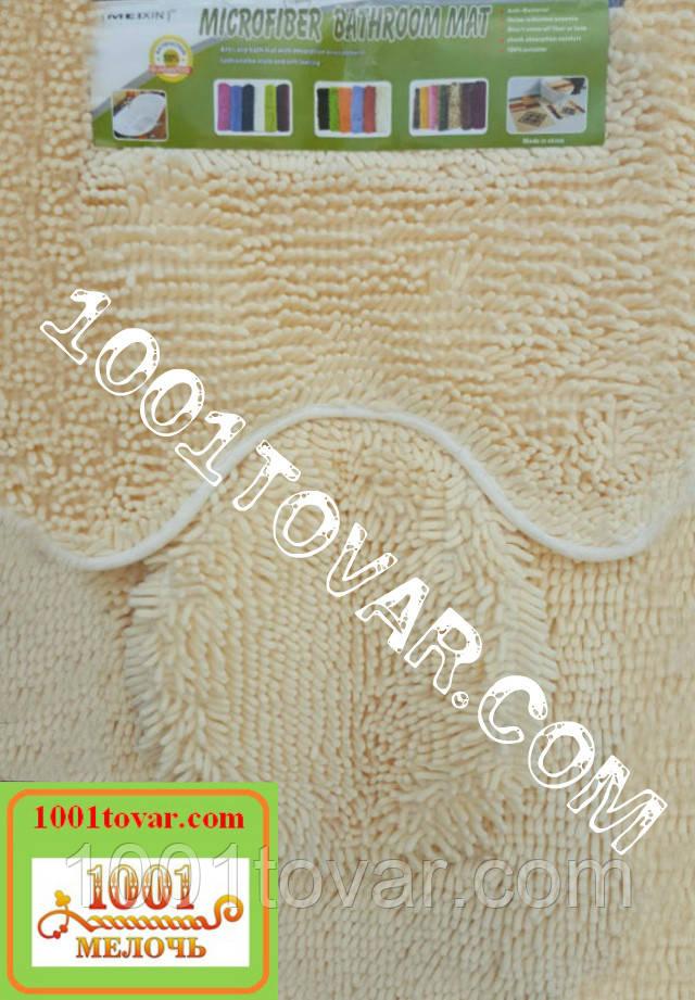 """Набор из 3-х ковриков из микрофибры """"Макароны или дреды"""" в ванную 80х50 см. и туалет 35х50 см., 40х35 см."""