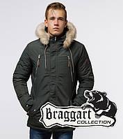Braggart Arctic 14015 | Теплая мужская парка хаки