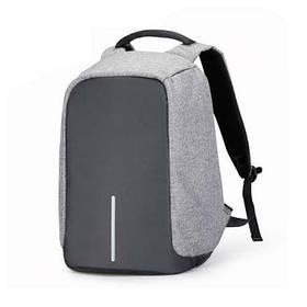 Универсальный городской рюкзак Bobby Антивор серый с USB