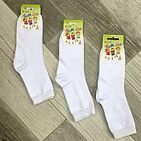 Детские носки демисезонные хлопок Класик, 33-35, 22 размер, белые, 06581