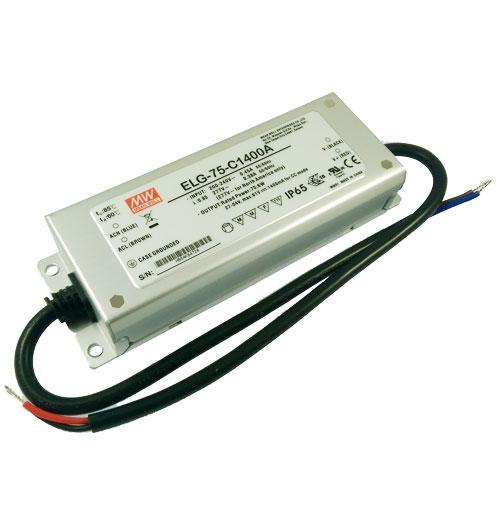 Блок питания ELG-75-C1400A диммируемый MEAN WELL регулируемый драйвер 700-1400мА 76 Вт 8073