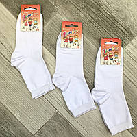 Детские носки демисезонные хлопок Класик, 24-26, 16 размер, белые, 06502