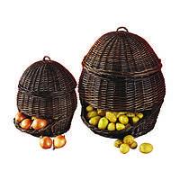 Корзина для хранения картошки, лука и яблок