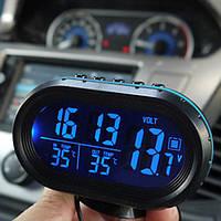Многофункциональные автомобильные часы VST 7009V