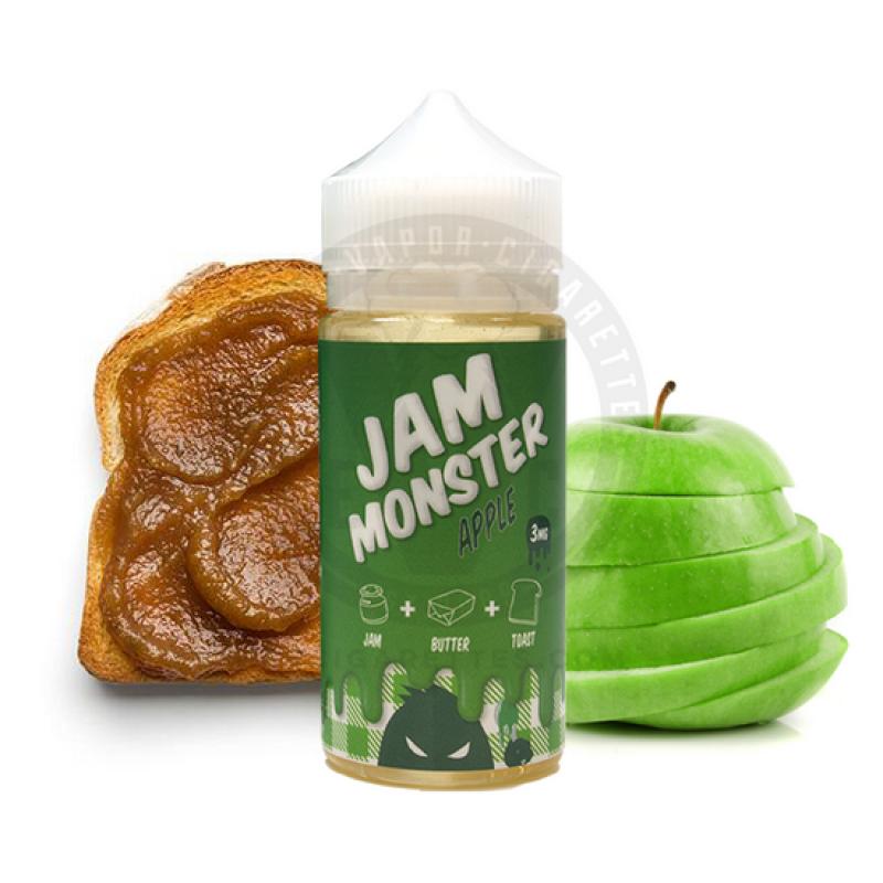 Заправка для электронных сигарет с никотином Jam MonsterApple mix 100ml