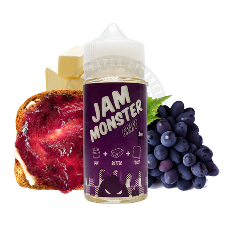 Заправка для электронных сигарет с никотином Jam MonsterGrape mix 100ml
