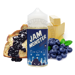 Заправка для электронных сигарет с никотином  Jam MonsterBlueberry mix 100ml, фото 2