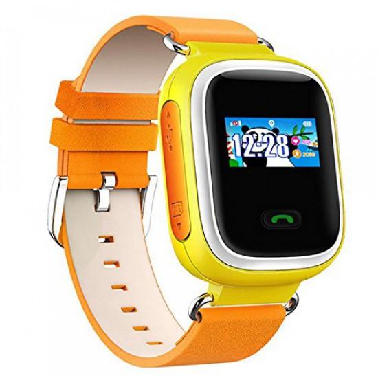 Жёлтые умные часы для ребёнка Smart Baby Watch Q80 с GPS