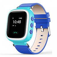 Синие умные часы для ребёнка Smart Baby Watch Q80 с GPS