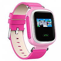 Розовые умные часы для ребёнка Smart Baby Watch Q80 с GPS