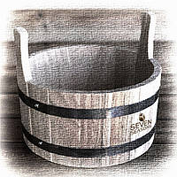 Шайка дубовая для бани и сауны Seven Seasons™, 7 литров