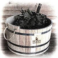 Шайка дубовая для бани и сауны 15 литров