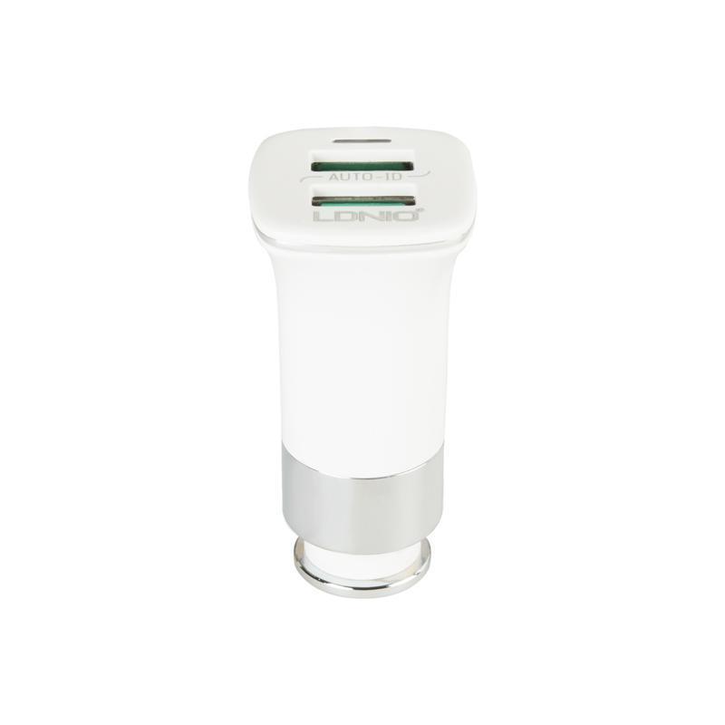 Зарядка автомобильная 2USB LDNIO (3.6A) White (DL-C301)