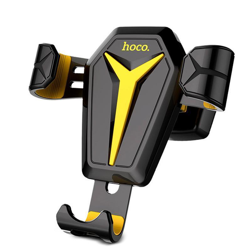 Держатель  Hoco CA22 Black/Yellow (Крепление вентеляционная решетка)