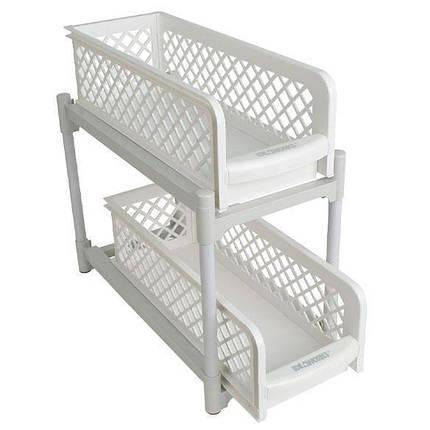 Органайзер на два ящика Basket Drawers Portable для кухни и ванной, фото 2