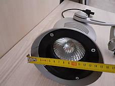 Трековые светильники. Б/У Светильник металлический для студии, серый., фото 3