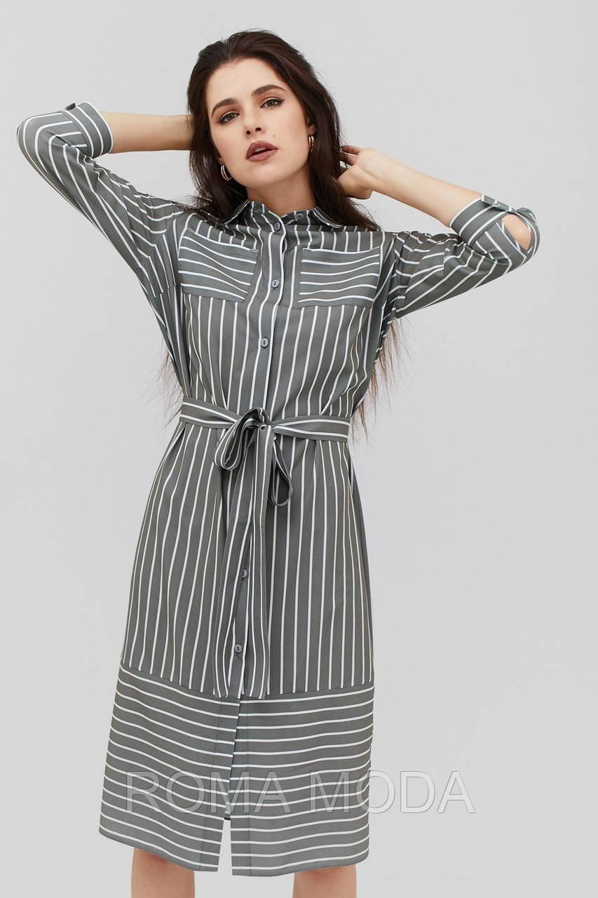 Модное женское платье-рубашка в 3х цветах BEXI