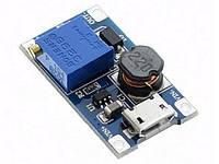 Преобразователь напряж. повыш.  micro USB 5V в 5...28V 2.0А MT3608