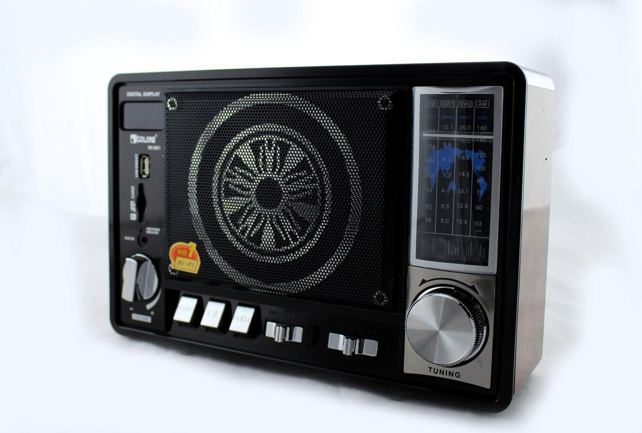 Портативный радио приемник Golon RX 951 FM , цифровой радиоприёмник с большим динамиком MP3