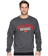 Свитер Champion College Nebraska Cornhuskers  Eco Powerblend Crew Granite Heather - Оригинал