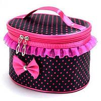 Тканевая сумка косметичка Bow Storage Bag
