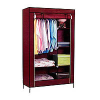 Storage Wardrobe Шкаф Тканевый  органайзер для вещей 105*45*175см HCX 88105 на 2 секции
