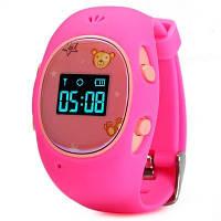 Детские смарт часики с GPS-трекером G65 в розовом цвете