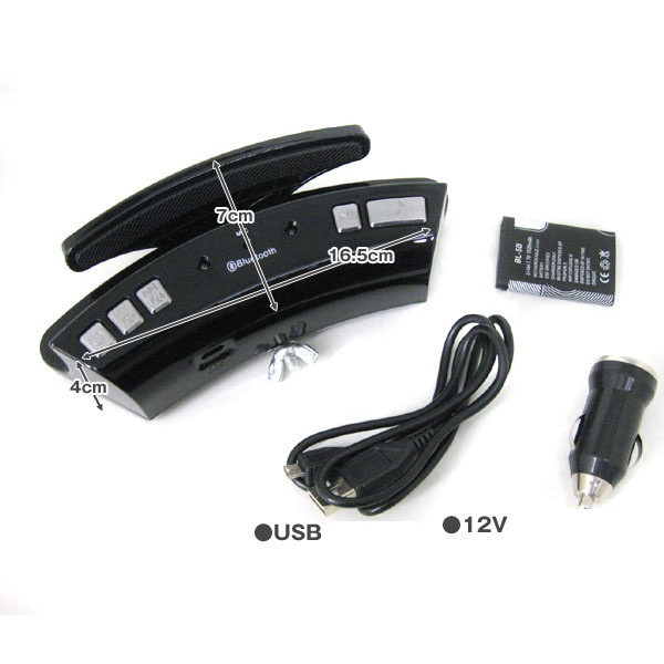 Портативная беспроводная Bluetooth гарнитура WS-128 с зажимом для руля