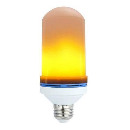 Светодиодная лампа LED Flame Bulb А+ с эффектом пламени огня, E27, фото 2