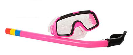 Очки и трубка для ныряния 65072SH Розовый, фото 2