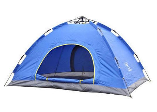 Двухместная туристическая палатка автомат № 3-2 Синяя