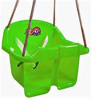 Качеля Малыш  3015 Зеленая  пластиковая подвесная качеля