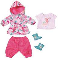 Костюм для дождя для куклы Беби Борн (дождевик и сапожки) - Baby Born Zapf Creation 3+ (823781)