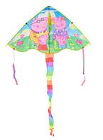Тканевый воздушный змей для ребёнка Свинка Пеппа M 6045 90*50*97см