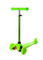 Самокат со светящимся колёсами ITRIKE MINI BB 3-013-4-H зеленый