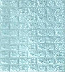 3D панель, обои, Самоклеящаяся, Sticker Wall, 70 x 77 x 0,7 см, Бирюзовый кирпич - 159349